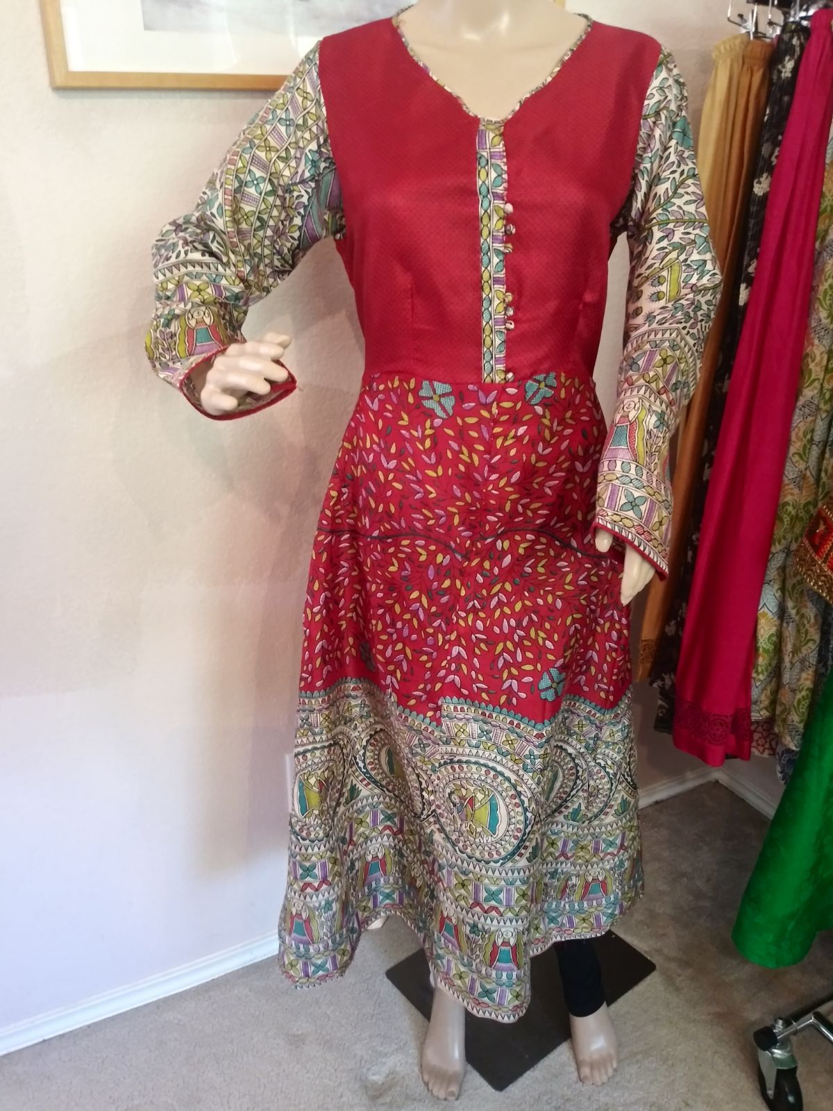 Anarkali Shirt, Tasar Cotton
