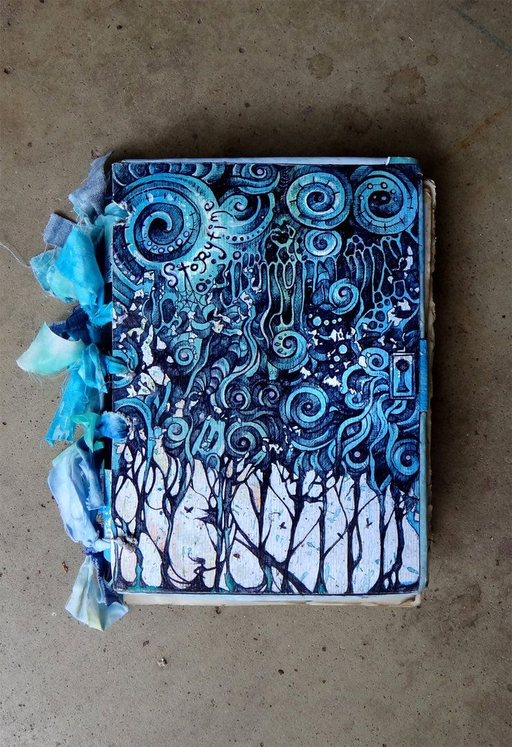 Creative Book Cover Ideas ~ Beautiful hand painted book cover sketchbook assignments