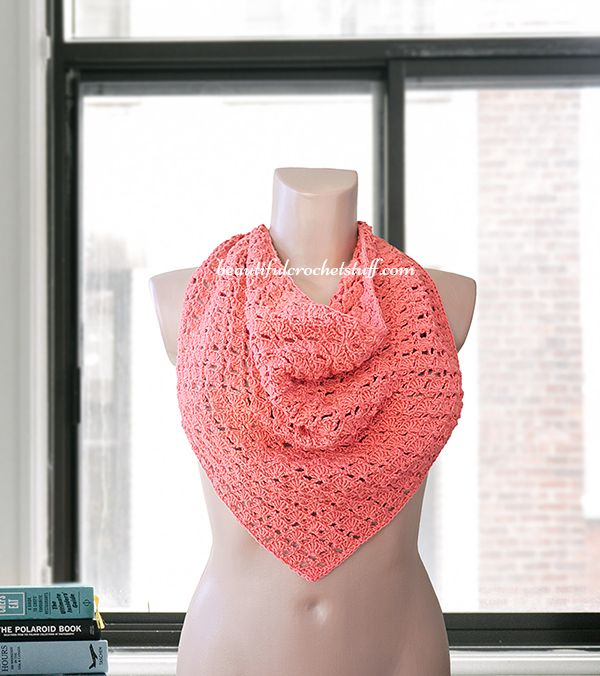 Crochet Triangle Shawl Free Pattern | Crochetin\' - Neck It ...