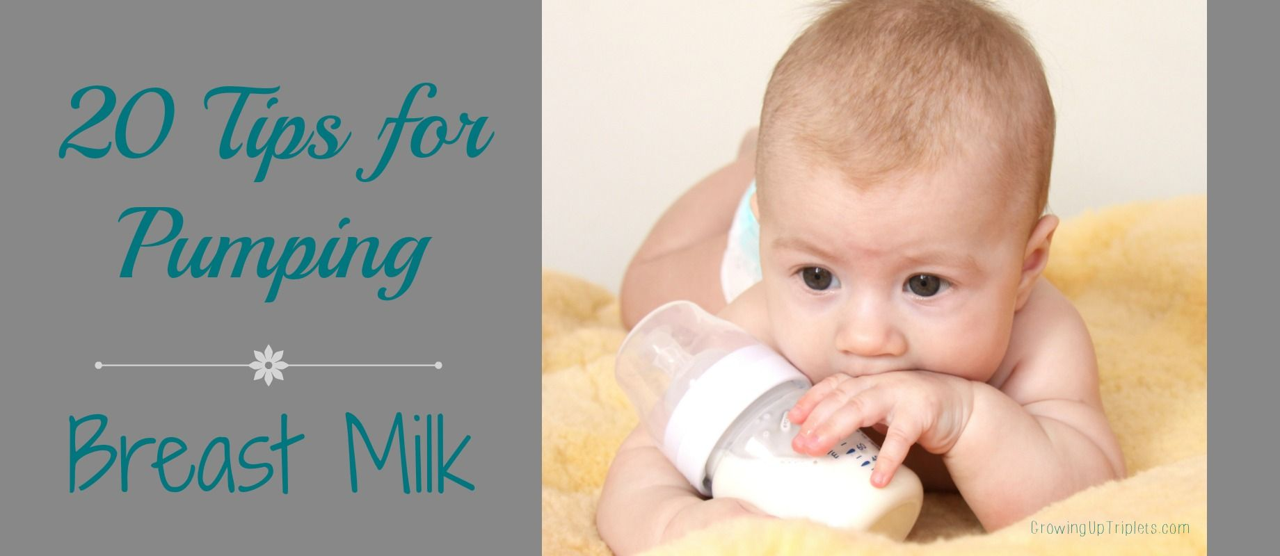 tips for pumping breast milk triplets and babies
