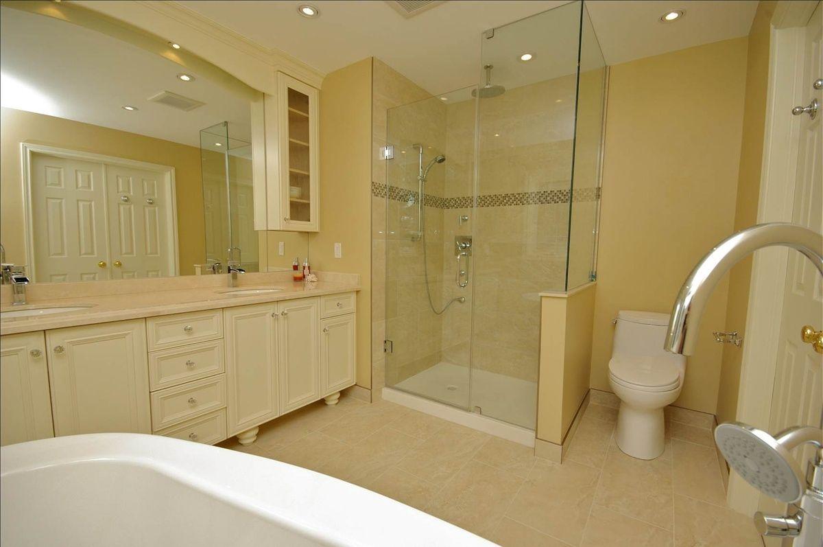 Glass enclosed shower | Bathrooms | Pinterest | Glass