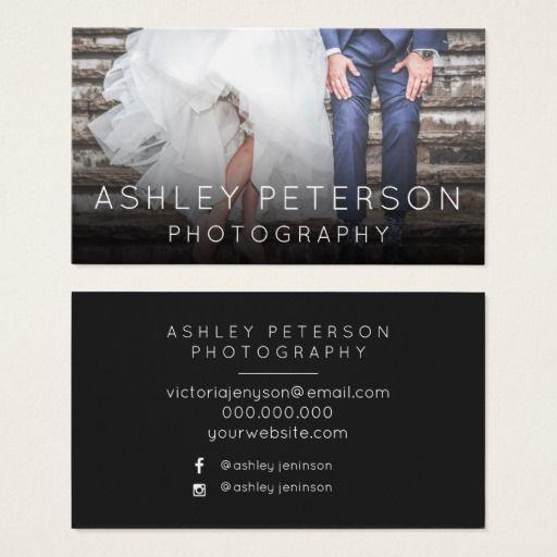 Simple wedding photography minimal typography business card simple wedding photography minimal typography business card reheart Choice Image