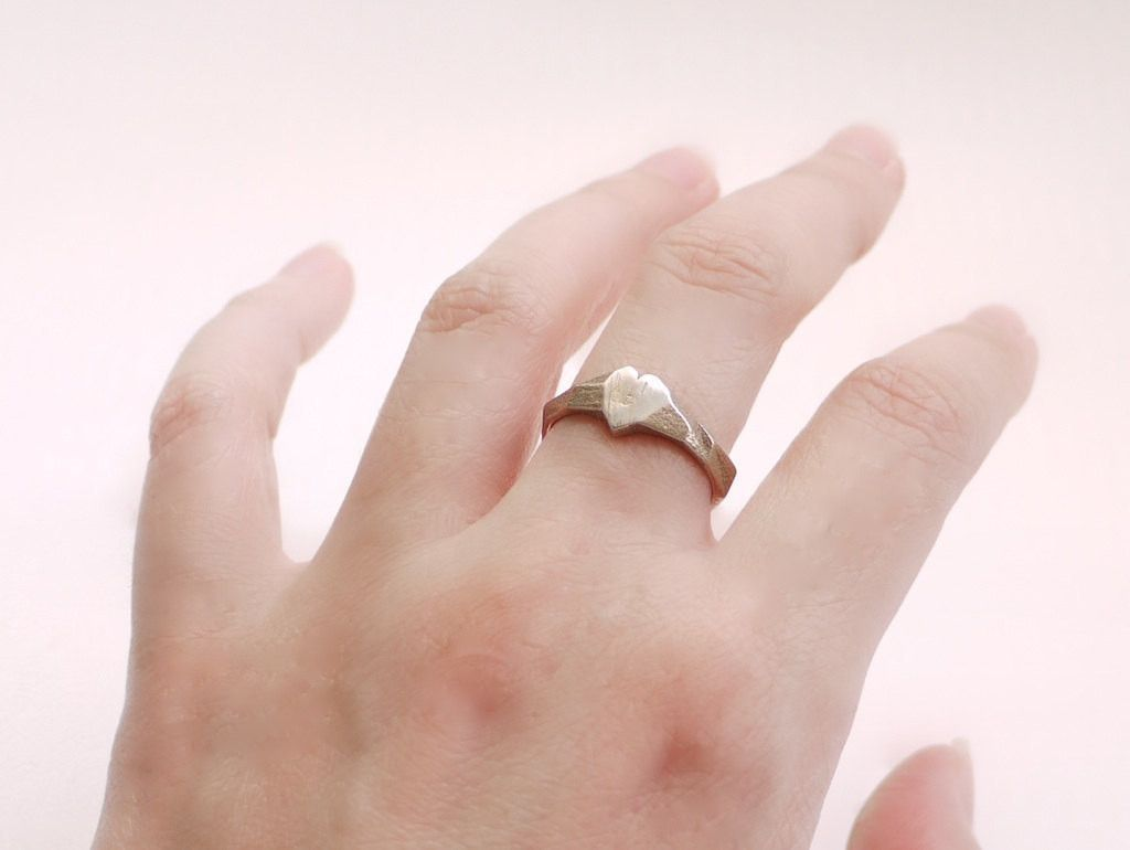 Faceted Heart Ring in Stainless Steel | Stainless steel, Steel and ...