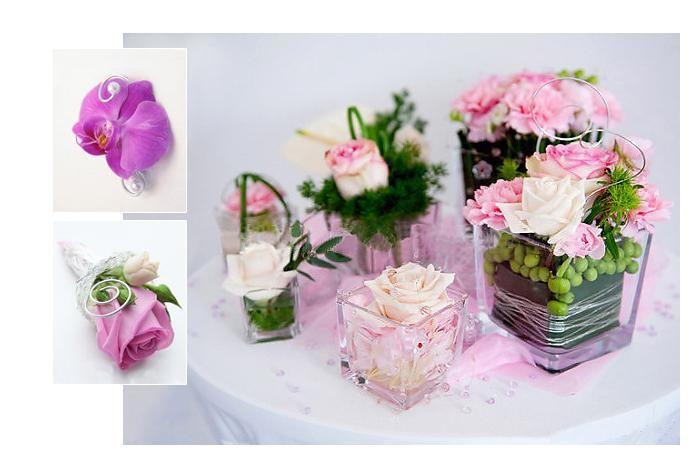 Tischdeko mit Blumen im Glas  Tischdeko  Flower