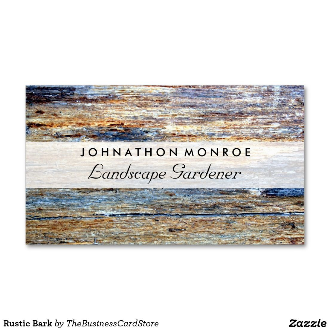 Rustic Bark Standard Business Card | FLORAL AND COUNTRY BUSINESS ...