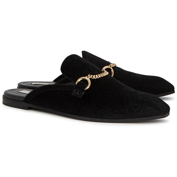 Stella McCartney Black Princetown Slip-On Loafers TSlUbIBe4I