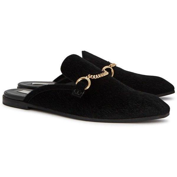 Stella McCartney Black Princetown Slip-On Loafers