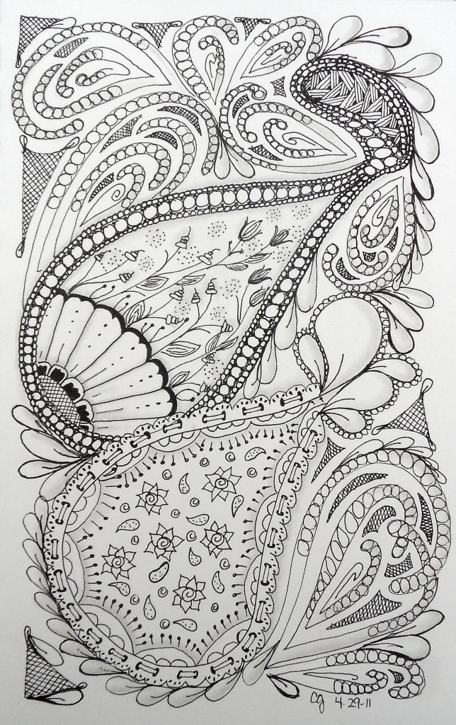 Zentangle- creative group therapy  #Zentangle Patterns