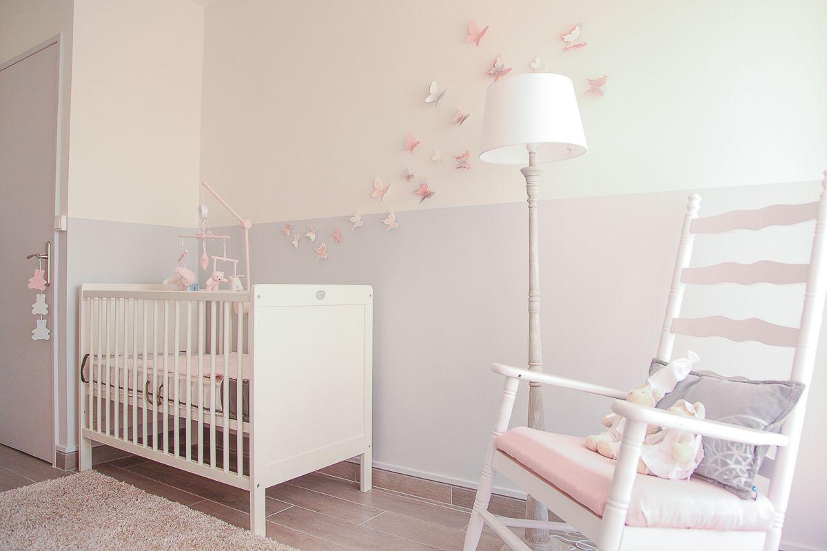 Des stickers papillon en 15D pour une chambre de bébé  Du bonheur