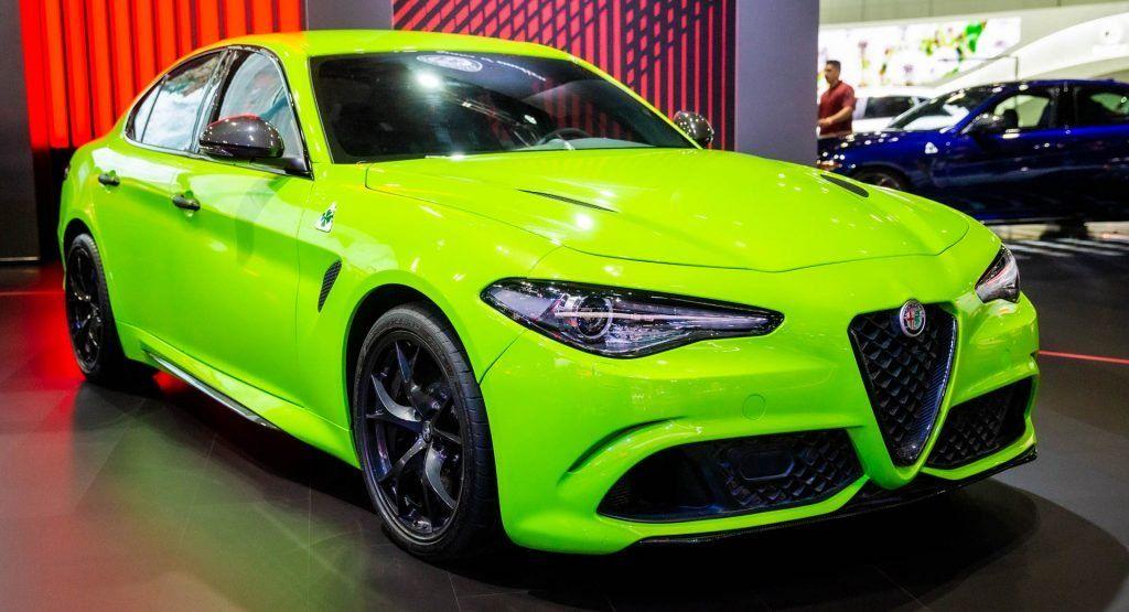 Neon Green Giulia Quadrifoglio Steals The Lime Light At Alfa S La