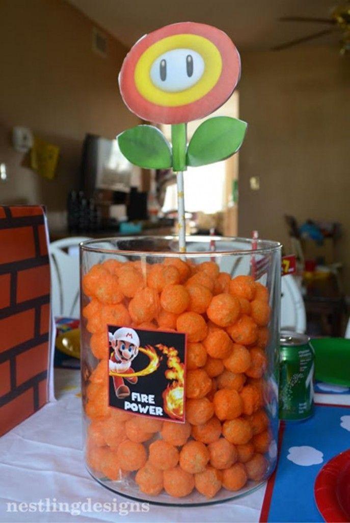 super mario bros DIY party Super Mario Birthday Party via Karas