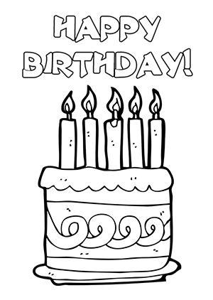 Birthday Card Template Black And White Goseqh