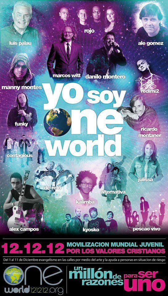 Del 1 al 12 de diciembre, somos One World. | Cristianos, Manny ...