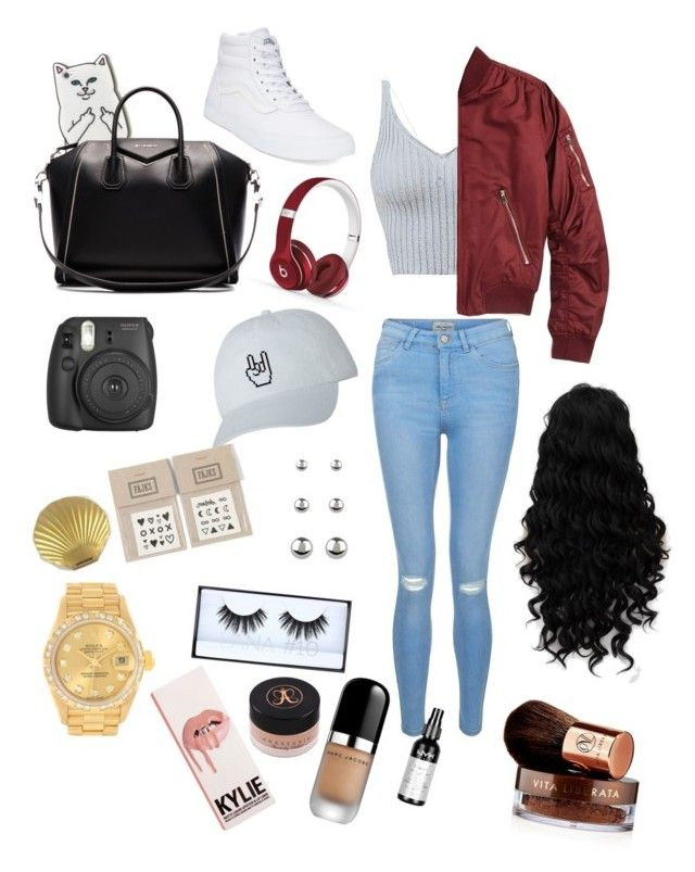 """"""""""" by jaydapolise on Polyvore featuring New Look, Vans, Topshop, RIPNDIP, Givenchy, Beats by Dr. Dre, NAVUCKO, Accessorize, Rolex and Huda Beauty"""