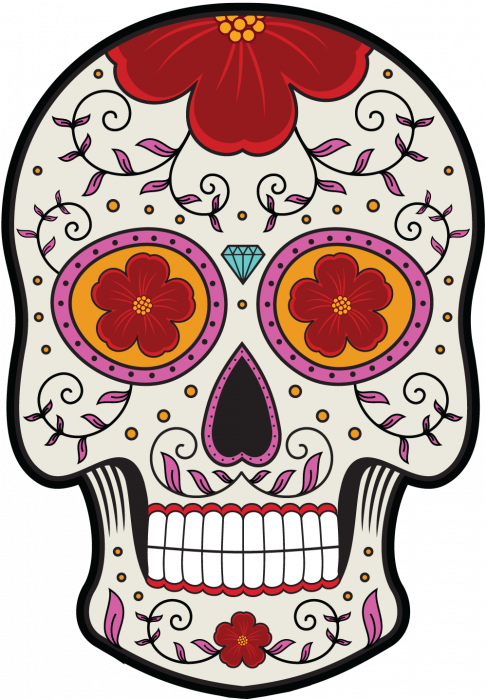 sticker calavera tete de mort mexicaine 12. Black Bedroom Furniture Sets. Home Design Ideas
