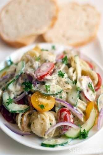 Creamy Ranch Pasta Salad Recipe