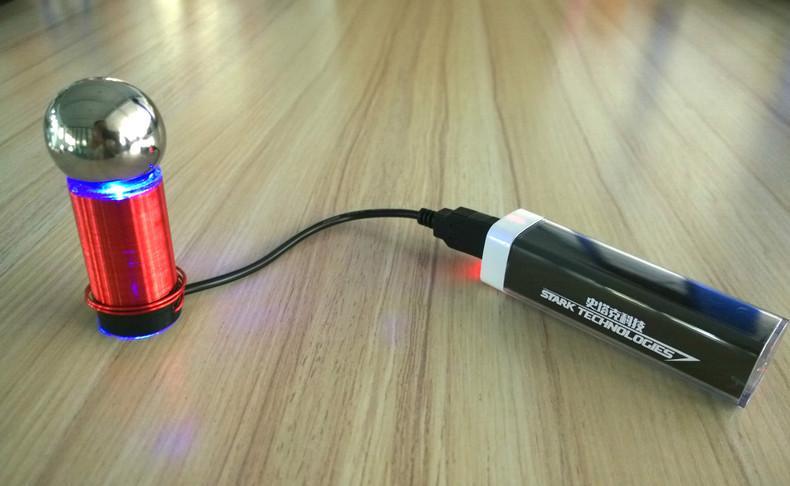 Red World's Smallest Tesla Coil One Watt Power Mobile Power