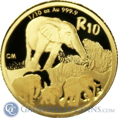 2008 1 10 Oz South African 3 Coin Special Proof Gold Set Munten Dieren Goud