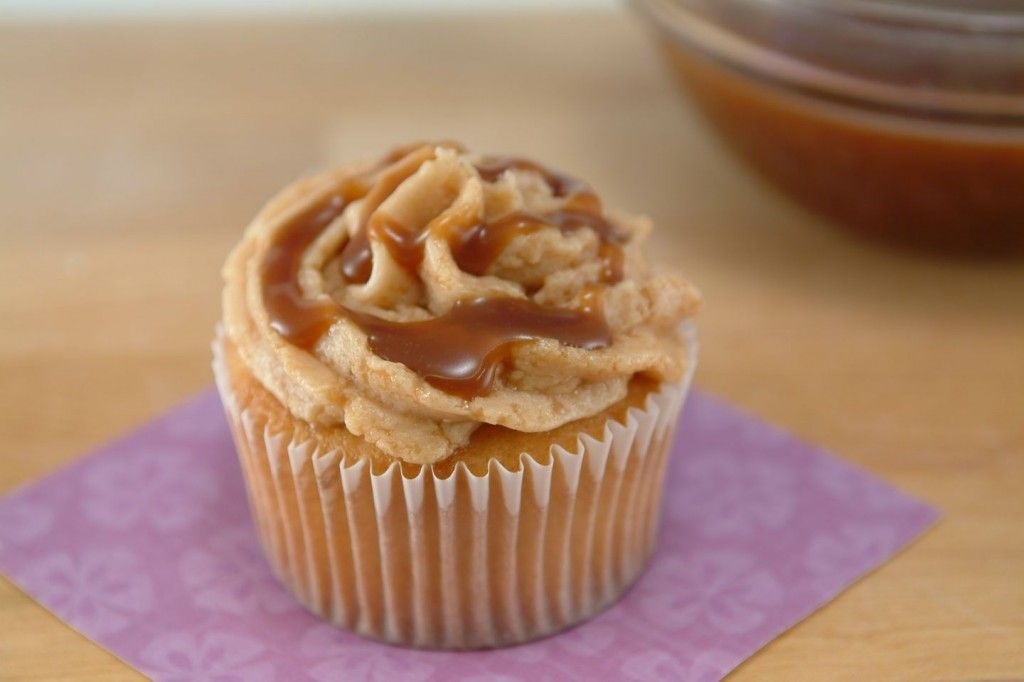 Dulce De Leche Caramel Swirl Cupcakes from @ Whipped