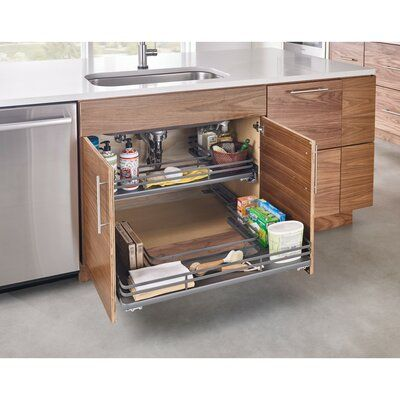 Rev A Shelf Chrome U Shaped Pull Out Drawer In 2020 Kitchen