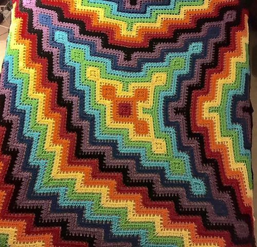 Ravelry: 3-Pronged Square and Ripple Blanket pattern by Rik Gillette ...