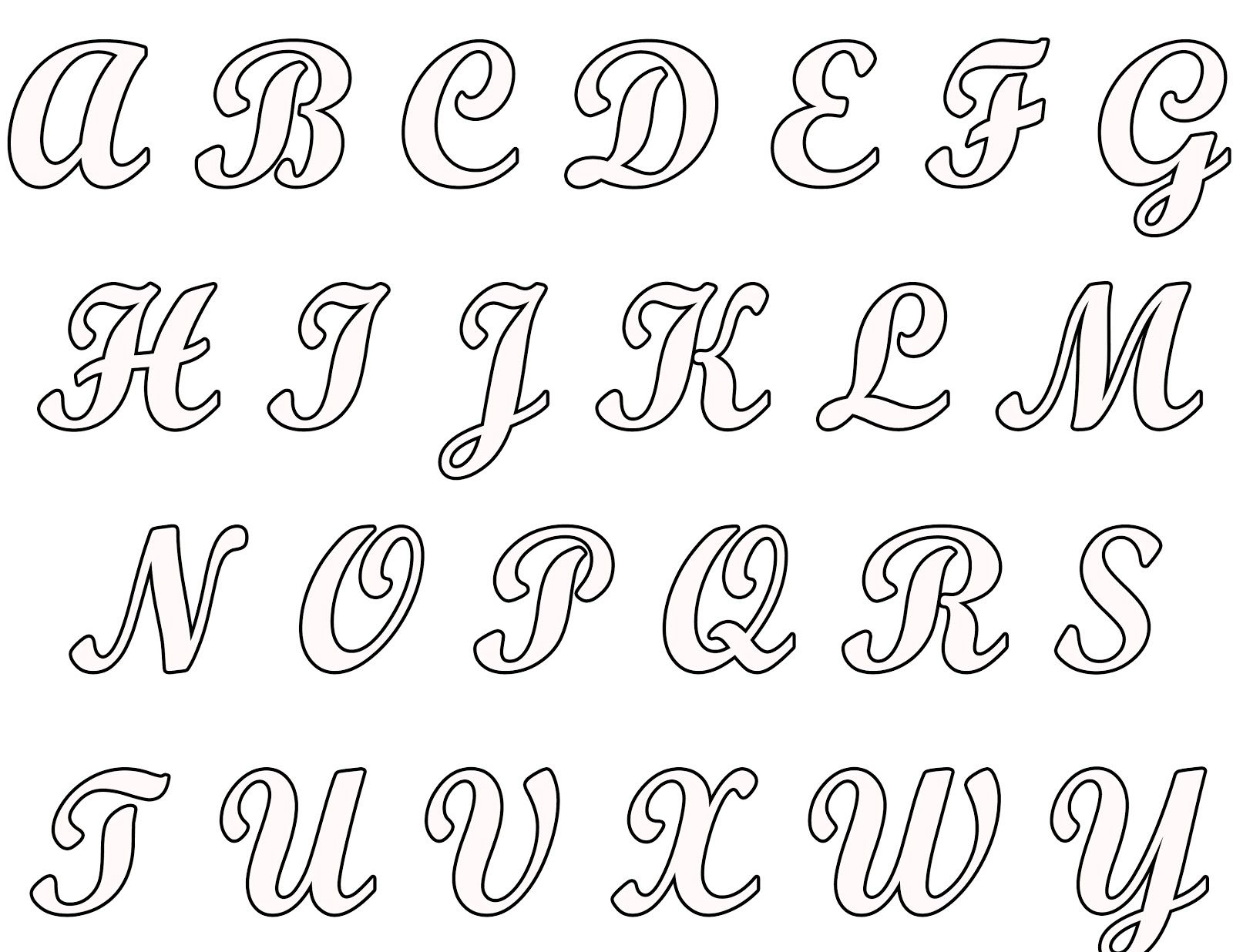 Bom três exemplos diferentes de alfabeto maiúsculo e