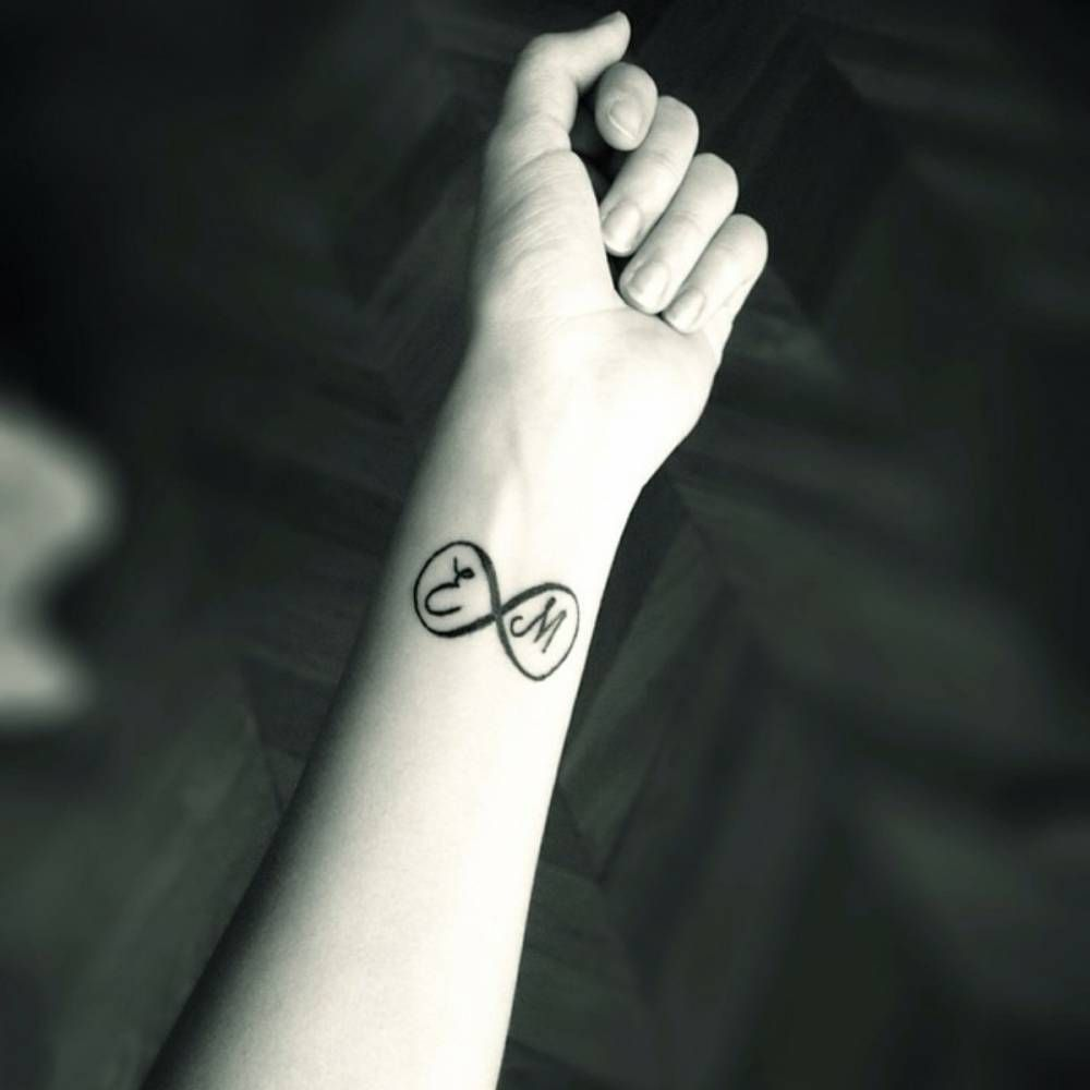 Tattoo Designs With Letter M: Little Wrist Tattoo Of The Infinity Symbol With The