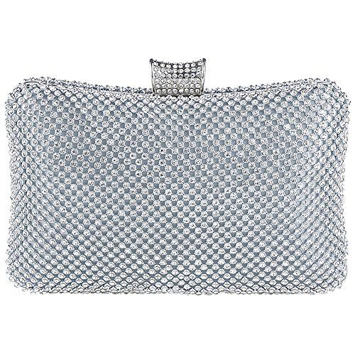 7472d5e3af3f Jubileens Women's Rhinestones Crystal Evening Clutch Bag Party Prom ...