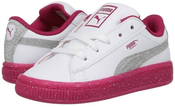 Puma Kids - Basket Ice Glitter 2 Girls Shoes