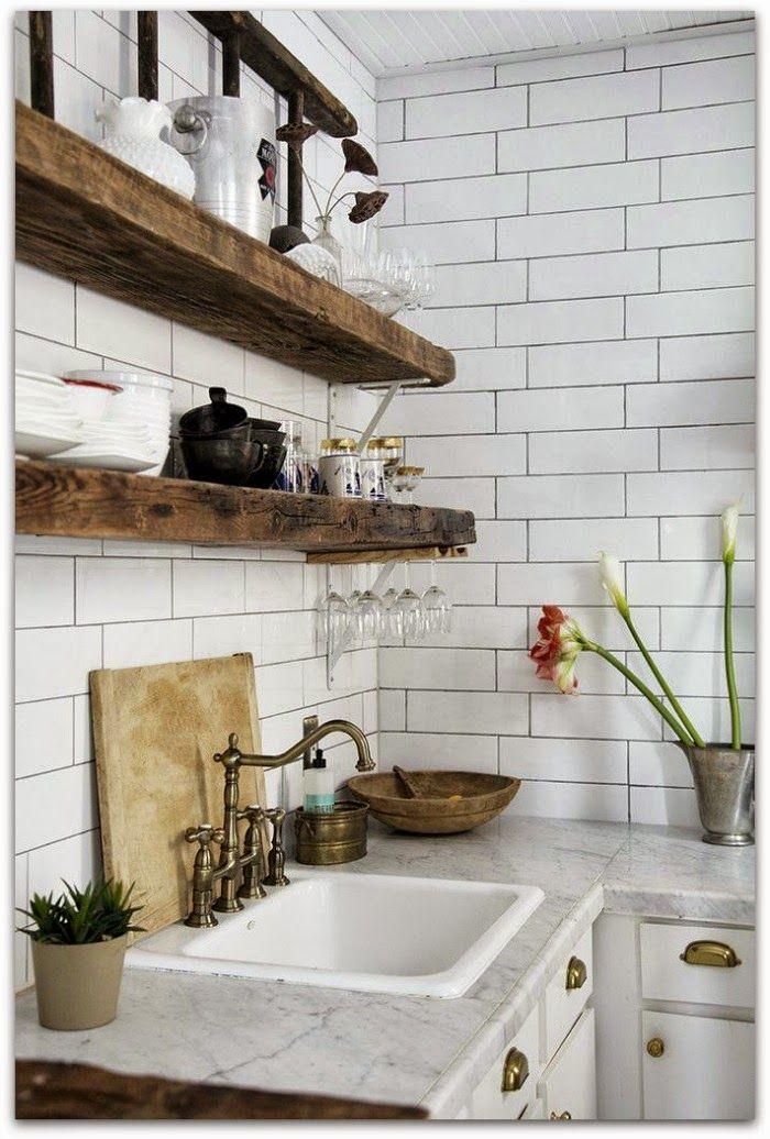 Azulejo blanco cocina cupa pinterest cocinas hogar - Azulejos blancos ...