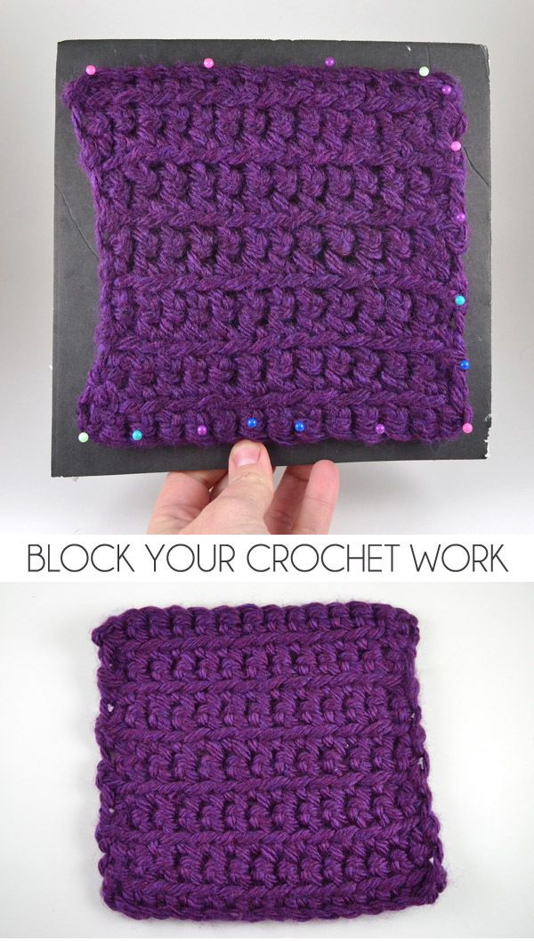 How to Block Finished Crochet Projects   Proyectos que intentar ...
