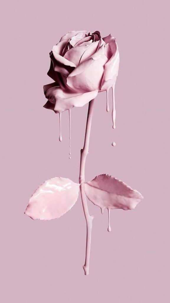 Rose Wallpaper Aesthetic Paint Liquid Tumblr Art