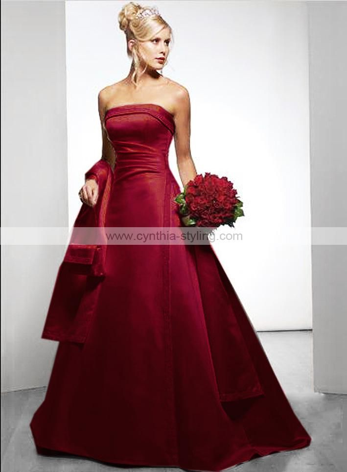 red wedding dresses | ... : Home > New Arrivals > Dark red wedding ...