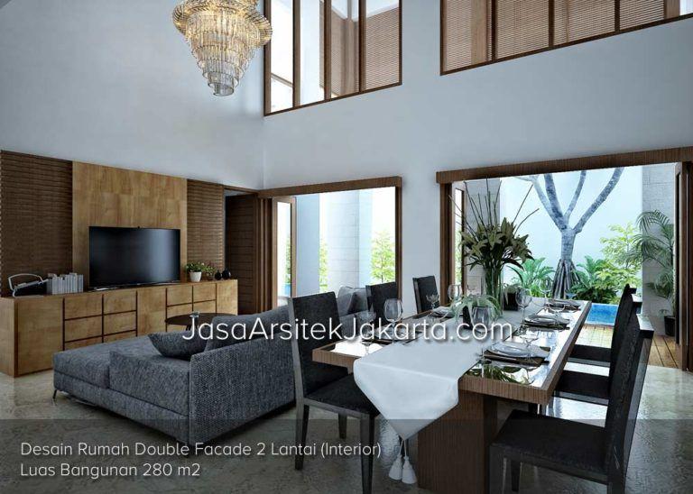 Desain rumah double facade lantai luas bangunan  interior also rh pinterest