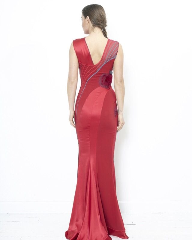 Stretch Silk Evening Gown Leshabitudes Losangeles Womensfashion