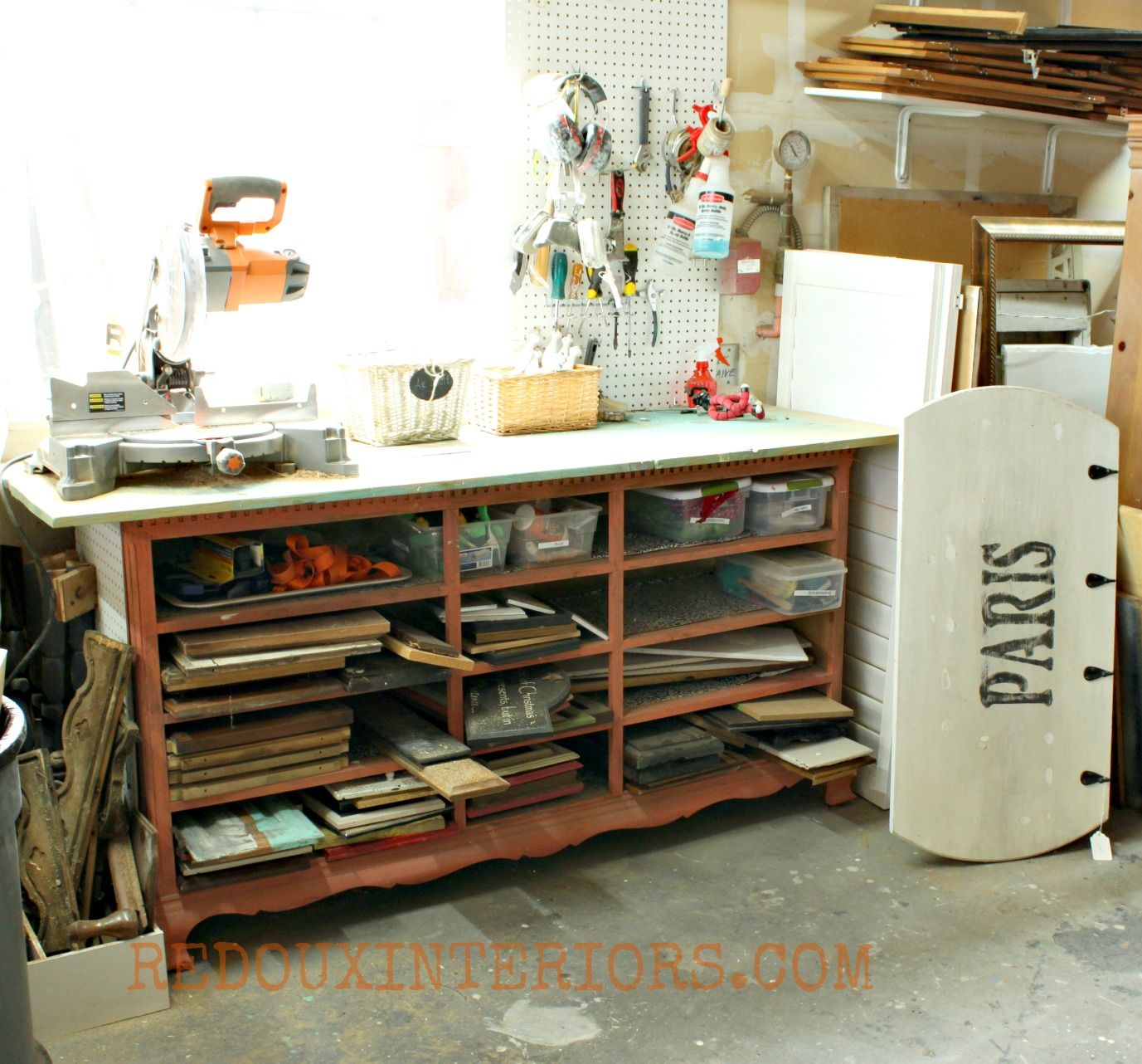 Art desk with storage organization - Art desk with storage organization ...