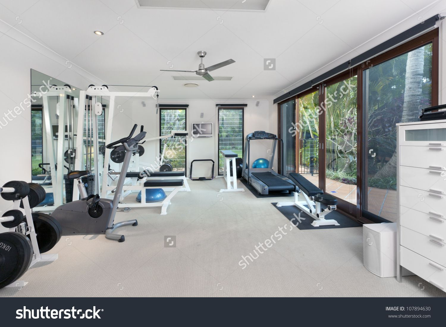 stock-photo-private-gym-in-luxury-home-107894630.jpg (1500×1100 ...