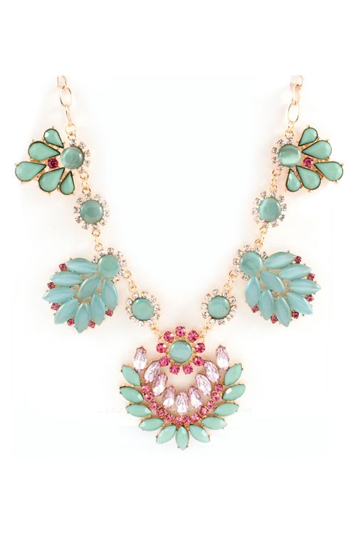 Lamire Necklace in Mint Marquise on Emma Stine Limited