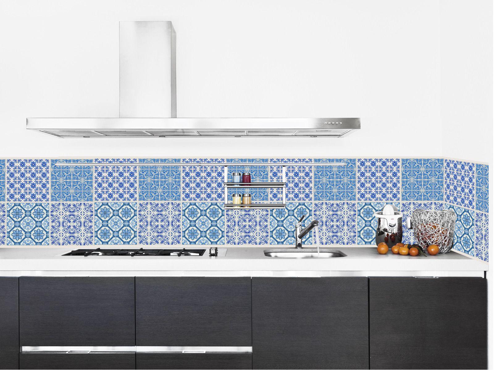 azulejos adh sif imperm abilis fa on carreaux de ciment pour cr dence d corations murales. Black Bedroom Furniture Sets. Home Design Ideas