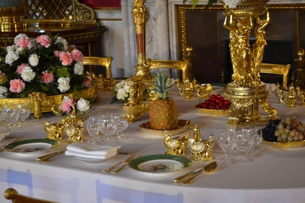 Home Furnishings Clothing Blog Retailers In 2020 Gold Wedding Reception Royal Table Queen S Coronation