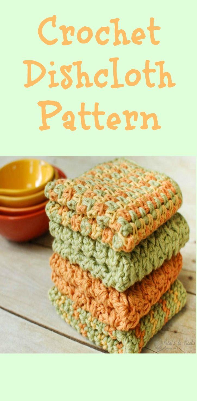 Crunchy Stitch Crochet Dishcloth Pattern   Hilaza, Cobija y Mantel