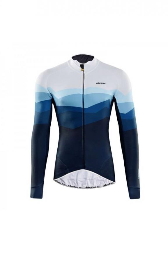2019 Herren Radtrikot Langarm Winter Bike Cycle Shirt Tops