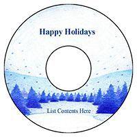 Free Avery® Templates - Winter Snow Scene CD/DVD Labels, 2 per sheet ...
