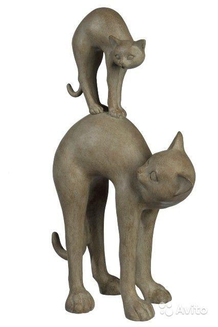 Декоративная фигурка Кошка с котенком Размер 22х12х36 см ...