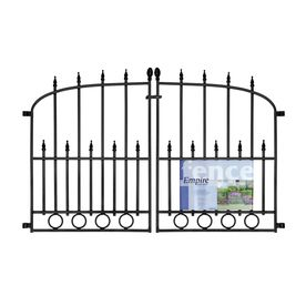 Lowes 22 No Dig Powder Coated Steel Fence Gate Common 293 in