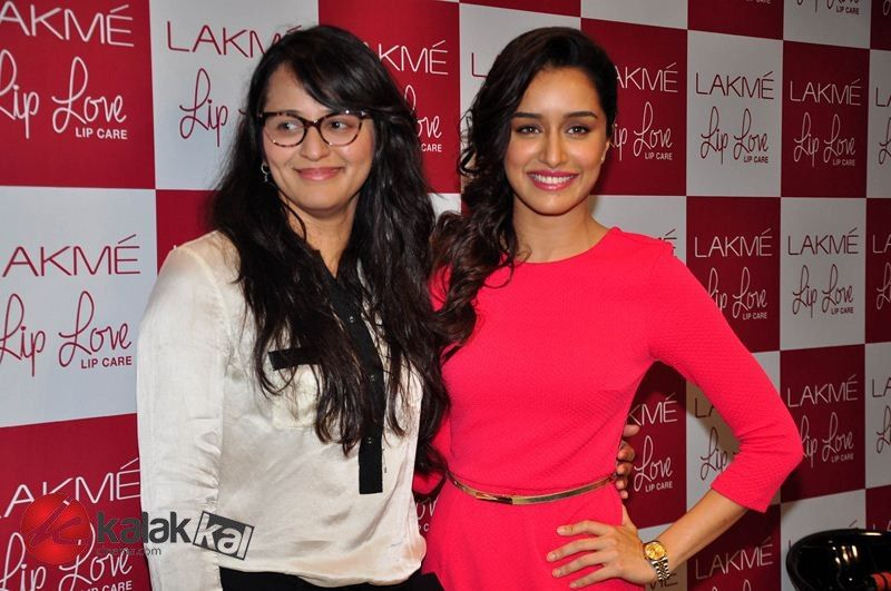 #ShraddhaKapoor at Lakme Lip Love Lip Care Launch  More Stills @ http://kalakkalcinema.com/shraddha-kapoor-lakme-lip-love-lip-care-launch/