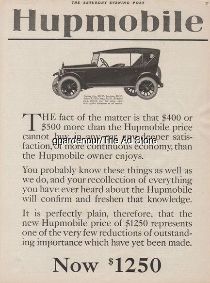 1921 Hupp Motor Car Detroit Mi Hupmobile 1920s Antique Open