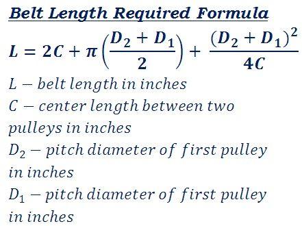 Formula to calculate v or flat belt length required to connect two formula to calculate v or flat belt length required to connect two pulleys for mechanical power keyboard keysfo Images