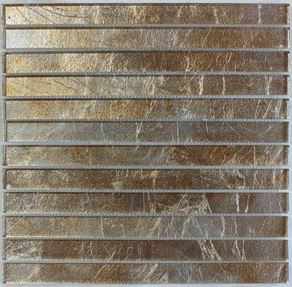 - Gold Silver Foil Glass Mosaic Tile 1