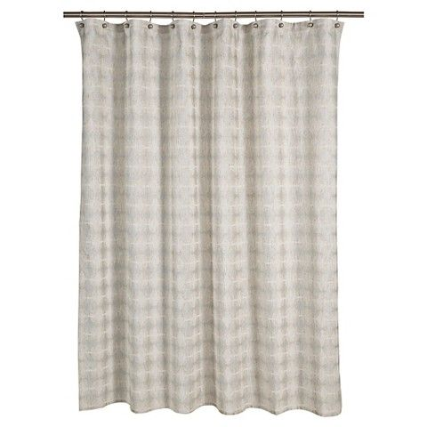"Threshold™ Tile Grid Shower Curtain - Natural (72""x72"")"